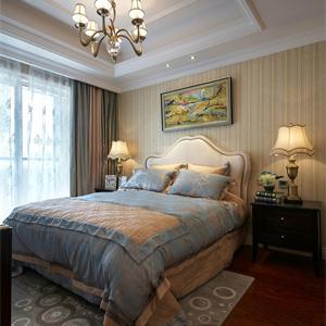 璀璨绿翠花园140㎡美式风格卧室装修效果图