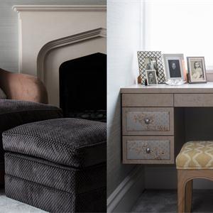 金地名悦100㎡美式风格卧室装修效果图