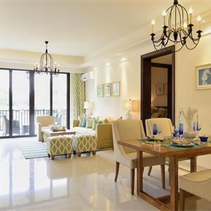复式地中海风格客厅装修效果图