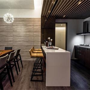 120平現代簡約廚房裝修效果圖