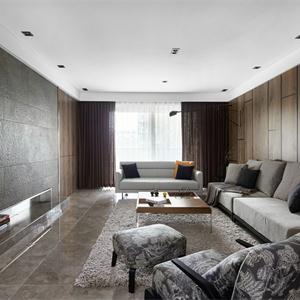 160㎡現代簡約客廳裝修效果圖