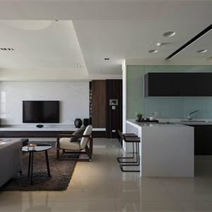 現代簡約風格裝修客廳效果圖