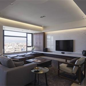 建發泱譽簡潔現代客廳裝飾設計