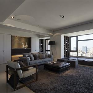 綠地海珀宮爵現代簡約裝修客廳設計圖