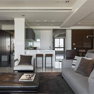 泰禾金尊府現代簡約風格客廳裝修效果圖