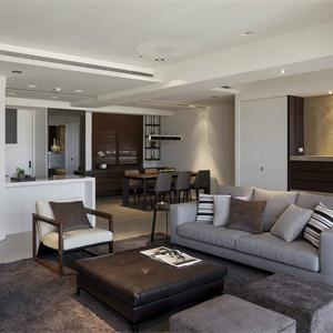 現代簡約別墅裝修客廳布置圖