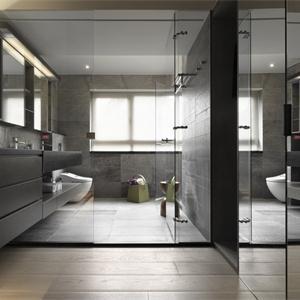 現代簡約四居室衛生間裝修效果圖
