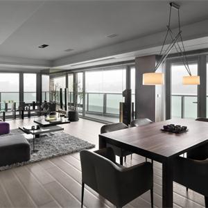 現代簡約裝修客廳設計圖