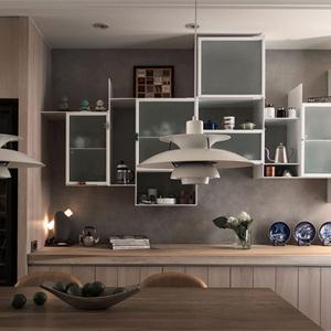 舒适简约美式风格厨房橱柜装修效果图