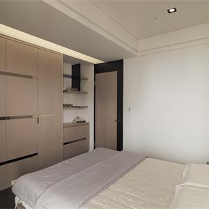 碧桂园天誉 现代简约风格卧室装修效果图