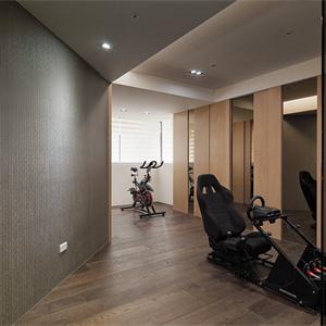现代简约风家庭健身房装修效果图