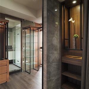 丰谷景园现代简约三居装修客厅过道