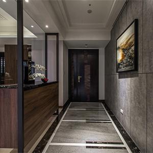 混搭别墅走廊装修客厅布置图