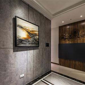 现代风格四居客厅走廊装修效果图