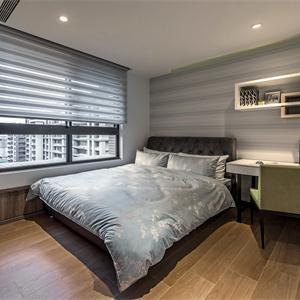 現代簡約風格裝修臥室實景圖