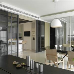 簡約日式家客廳餐廳多功能櫥柜設計
