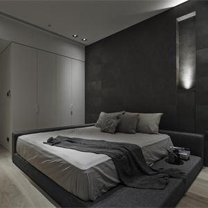 現代簡約裝修臥室布置圖