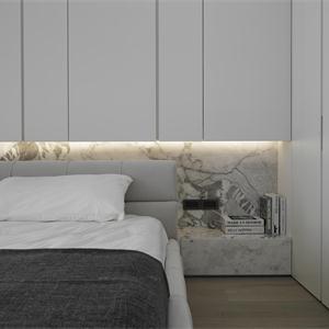 黑白灰現代簡約臥室裝修效果圖