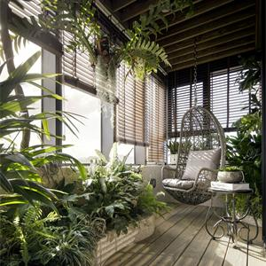 现代简约风格花园阳台装修效果图