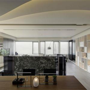现代简约四居客厅装修效果图