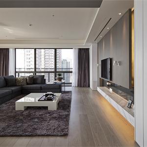 127㎡现代简约客厅装修效果图