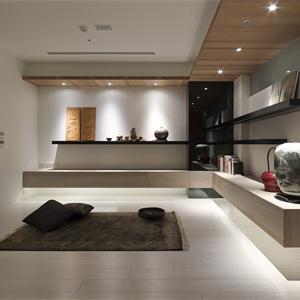 140平中式风格客厅装修效果图