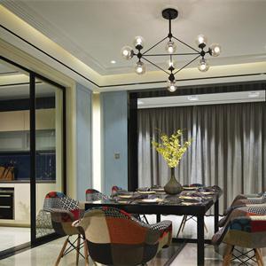 三居室現代風格餐廳裝修效果圖