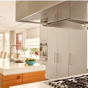 别墅原木简约日式厨房装修效果图