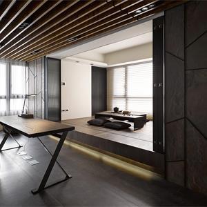 简约现代风格书房起居室装修效果图