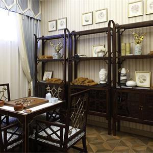 现代中式书房装修效果图