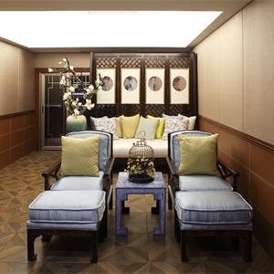 中式客厅创意屏风效果图