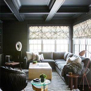 中式三居室装修客厅效果图