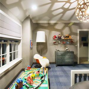 现代中式样板房装修儿童房效果图