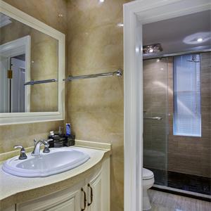 法式风格三居室卫生间装修效果图