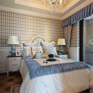 97平美式风格装修卧室效果图