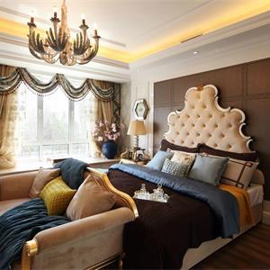 卧室风格卧室窗帘装饰图
