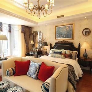 欧式风格两居卧室装修效果图