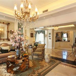 古典欧式风格客厅效果图