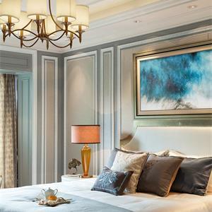 160平欧式风格装修卧室设计图