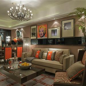 欧式风格大户型客厅装修效果图