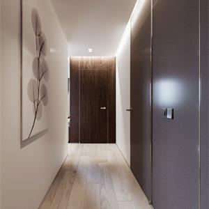 北欧LOFT二居装修卧室走廊