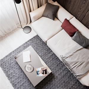 65平北欧风格客厅装修效果图