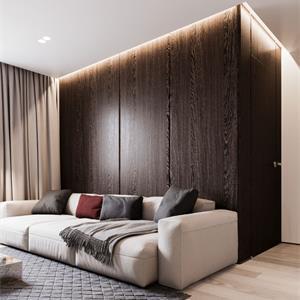 110平北欧风格装修客厅一角