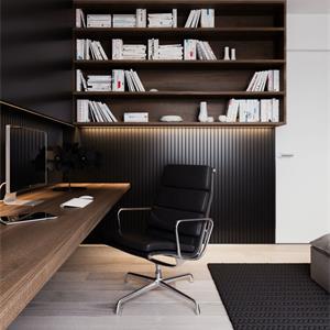 140平北欧风格书房装修效果图