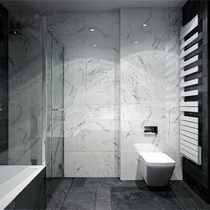黑白现代简约装修卫生间效果图