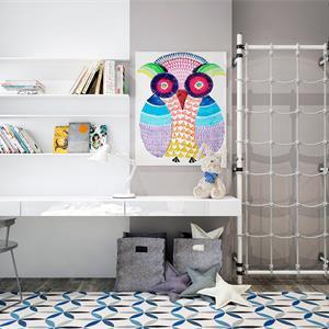 二居室现代简约儿童房书桌装修效果图