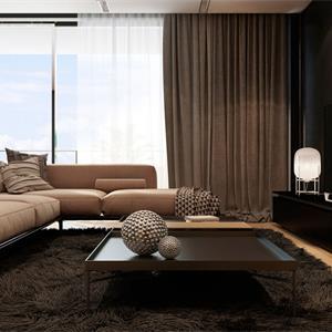 120㎡现代风格装修客厅效果图