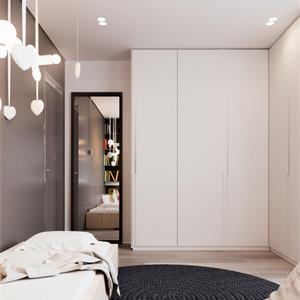 100平米简约现代卧室装修图