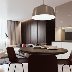 三居室简约风格装修餐厅布置图