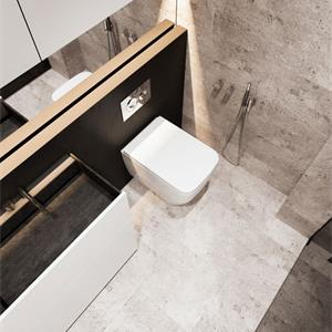 三室一厅北欧明亮色卫生间装修效果图